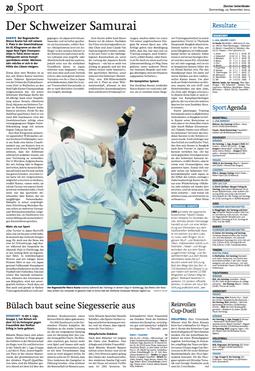 Zürcher Unterlander Bericht Marco Kuster Zendokai Akatsuki Dojo Karate-MMA