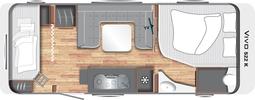 Grundriss LMC Vivo 520 K Wohnwagen