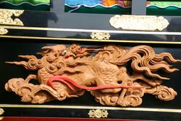 宮本町の山車にある彫刻