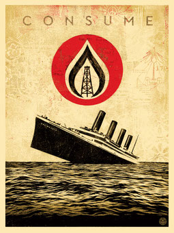 Shepard Fairey Unsinkable Consumtion