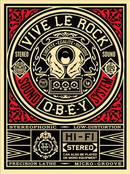 Shepard Fairey Vive le Rock