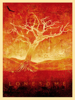 Shepard Fairey Tom Dula, Lonesome, cream