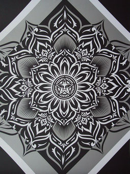 Shepard Fairey Lotus Diamond Silver