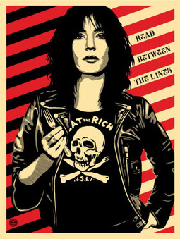 Shepard Fairey Patty Smith