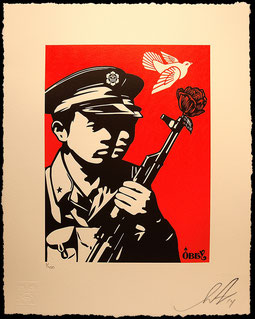 Shepard Fairey Chinese Soldiers Letterpress