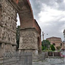 Galeriusbogen und Rotonda in Thessaloniki