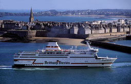 Bretagne during one of her first arrivals in Saint-Malo.