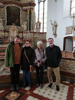 Stratmann-Verwandte: v.l.n.r. Rainer Pigge, Tanja Bals, Anni Janzen, David Stratmann, Foto: privat