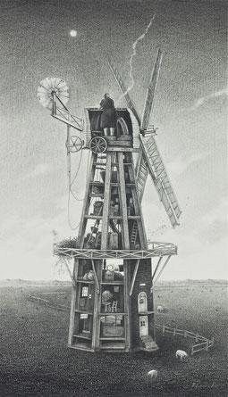 塔型風車      鉛筆 / 25.0x14.3cm