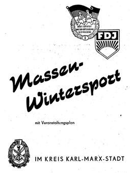 Broschüre zum 1. Wintersportfest Quelle: (1)