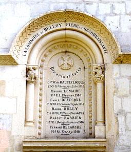 Monument aux Morts de Belloy-St-Léonard