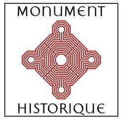 Logo monument historique, église Saint-André, Cénac, Gironde, Nouvelle-Aquitaine