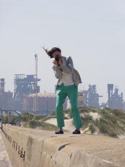 Saint-pol Dunkerque灯台の前で