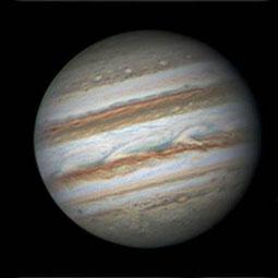 Foto: Gerald Reiser und Bernd Liebscher Sternwarte Neumarkt; Jupiter