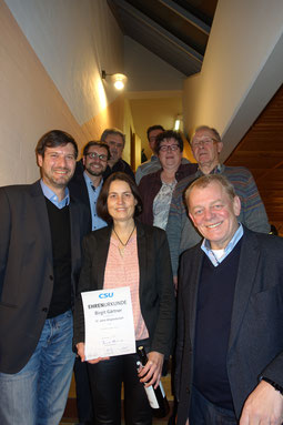v.l.n.r: Andreas Zeitler, Marco Gmelch, Georg Kerl, Birgit Gärtner, Sebastian Meier, Heidi Frank, Herbert Meier, Richard Graf,  Foto: CSU Neumarkt