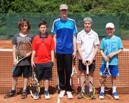 Die Junioren U15 des TC Rot-Weiss Dillingen