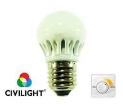 Светодиодная лампа DG45 K2F40Т6 metal dimmable