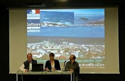 Lors de l'accueil par les Directeurs du DRASSM et du Musée d'histoire de Marseille