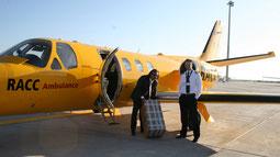 Avión alquilado para entrega en Badajoz