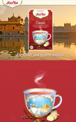 Yogi Tea - Ayurvedische Kräuter- & Gewürzteemischungen in tollen Geschmacksvariationenn Yogi Tee im Ayurverda verwurzelt