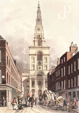 IMA.19.002 Christ Church, Spitalfields (London) (Aquatinta, 1815) / © Sammlung PRISARD