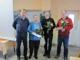 Rainer Leonhardt, Christa Ulbrich, Wolfgang Meister und Thomas Schöche (v. l. n. r.)