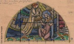 L'atelier Louis Balmet a fourni de nombreux vitraux dans les églises cantaliennes dont Calvinet.