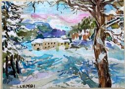 Igino Lembi, Milano acquerello