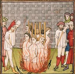 Royal 20 C VII- Chroniques de France ou de St Denis (from 1270 to1 380) TEMPLARIOS SIENDO QUEMADOS