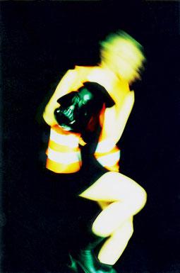 """Maske"" aus der Serie Black Beauty, 2001, 100 x 70 cm"