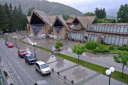 Blick aus dem Hotelfenster in Kolasin