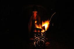 Schamanin papajehaja, Heilige Sexualität, Ekstase, Ritual, Feuer, Tantra