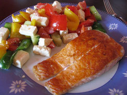 Low Carb: Lachs mit Salat