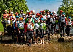 Die kleinsten Freestyler Deutschlands paddelten am Wochenende in Günzburg um die Wette