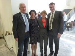 Nach der Ehrung v.l.: Peter Lessing, Elisabeth Henn ,  Elfriede Hodapp ,Volker Schebesta.