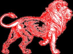 """Logo  """"Roter Löwe - Vereinigung zur Vernetzung und Anwendung von  Wissen, Erfahrungen und naturnahen Werten""""  Verkaufsplattform für Biolebensmittel"""