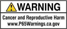 Exemple d'avertissement Proposition 65 - forme courte