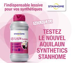 Tout dernier né de la gamme des lessives Stanhome, Aquilaun Synthetics est spécialement dédié pour les vêtements synthétiques des sportifs, mais aussi les vêtements du quotidien. Avec lui, fini l'électricité statique et les mauvaises odeurs.
