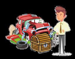 Wertgegenstände aus Auto räumen