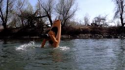 Noah Meeder beim Flachwasser-Loop