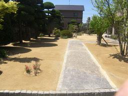 草が生えないようにしたい 芝がうっとうしい 施工 ブロック 工事