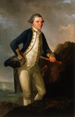 James Cook gemalt von John Webber - Museum of New Zealand Tepapa Tongarewa, Wellington