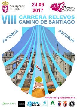 VIII CARRERA DE RELEVOS DIPUTACION DE LEÓN - Astorga-El Ganso-Rabanal, 24-09-2017