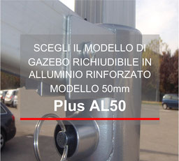 Gazebo Richiudibile in alluminio 50mm