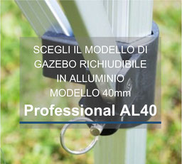 Gazebo Richiudibile in alluminio 40mm