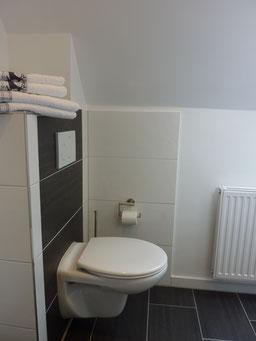 Gästehaus Erle Apartment Fellhorn Bad WC Ansicht