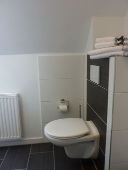 Gästehaus Erle Apartment Nebelhorn Bad WC Ansicht