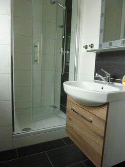 Gästehaus Erle Apartment Tegelberg Ansicht Waschbecken