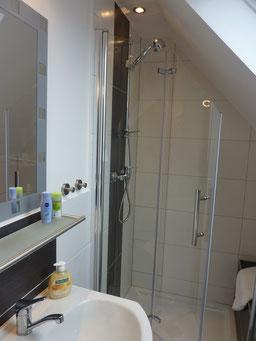 Gästehaus Erle Apartment Nebelhorn Bad Waschbecken Ansicht