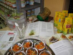 Biosprossen mit Rezeptbeilage